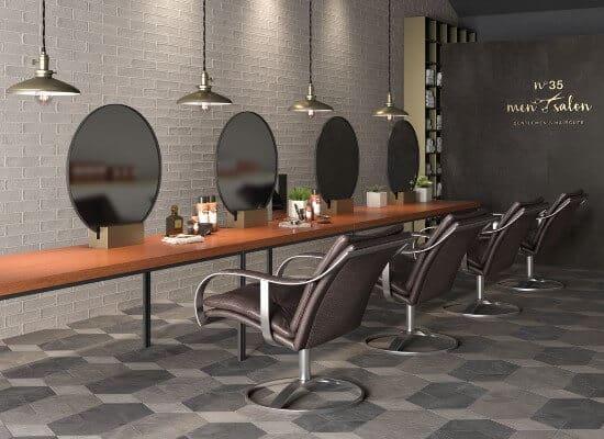Floor and Wall Tiles for Hair Salon